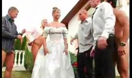 The bride's facual cumshots