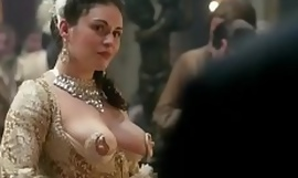 Kimberly Pine teat dress scene from Outlander the series