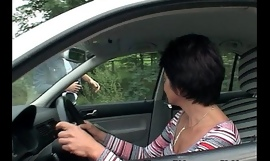 Brunette older sex with youthful chap for fixing her car