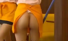 Japanese waitress has to go bottomless ENF