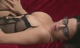 KIK: Alisas69 - Desirable chick in sexy fishnet stockings masturbating
