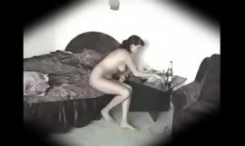Hidden camera in the air the bedroom
