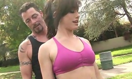 sexy chick Jennifer Lacklustre gets a sensual workout with regard to her trainer