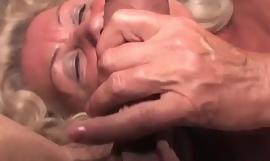 Naughty grandma symptom porno magazine until she gets wet