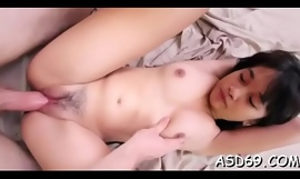 Narrowing thai babe caresses personally