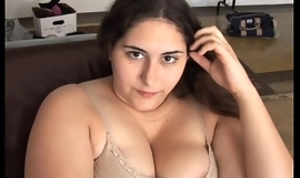 Beautiful big-busted obscurity BBW has a soaking wet wet crack
