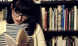 Hairy lesbian girls in book storeporn video