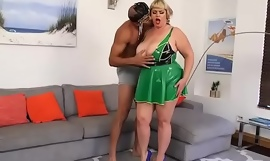 Lovely Busty BBW In Latex Has a Fetish Fuck Corps