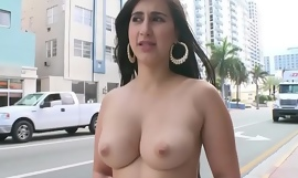 BANGBROS - Young PAWG Valerie Kay On The Streets Of Miami Beach Giving The World A Show