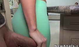 Beautiful blonde cheating with anal sex