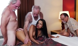 XXX pill men - 3 old chaps and a latin slutwife named nikki kay