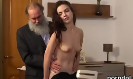 Sweet college girl receives tempted together with penetrated by senior tutor
