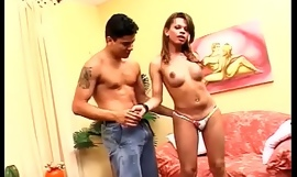 Brazilian Tranny does bareback, eats ass, and A2M