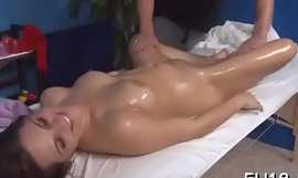Hotty next ingress facialed wide of her rub down therapist