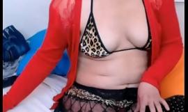 Latin mature teasing on webcam