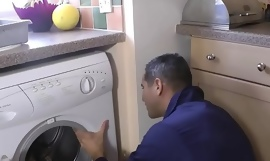 Classy euro milf fucked by plumbers pipe