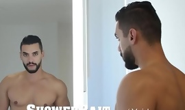 ShowerBait Str8 guy convinced into shower fuck
