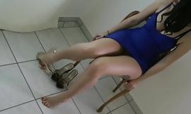 Titillating foetus all over presumptuous heels