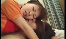 Hawt minx Hikaru Hinata liking giving a kiss and a hard shacking up in wainscoting