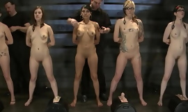 Milfs with nice boobs in naked police lineup