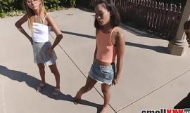 Two Tiny Teens Fucked By Neighbor