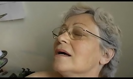 Grey fat Granny masturbate