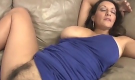 Busty milf tugjob together with vagina rubbing