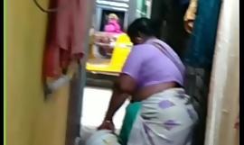Local aunty washing cloths