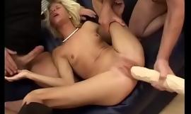 skinny german extreme anal gang team-fucked