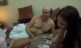 Tasteless Grandpa vs Beautiful Young Beauties in hardcore threesome be wild about and suck