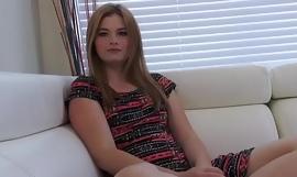 Blonde teenage slut fucked in pov