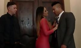 Husband Watches Latina Spliced Swing