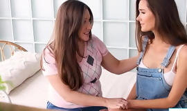 Busty babe has pre-eminent lesbian experience