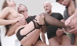 8on1 Triple Anal Gangbang with Nicole Black, Crap Deep Anal, DAP, TAP, Chubby Gapes and 8 Creampies GIO1649