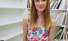 Tiny Redhead Sucks your Dig up with respect to the Library POV