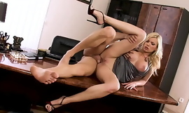 Babesalicious - Donna Bell Steadfast Fuck in The Office w/ Anal
