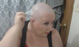 Titillating Mature  Submissive Camgirl TheSweetSav Shaving Her Head Unruffled