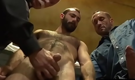 Mature Celebrant having sex with 2 convicts- HairyDaddySex porn video