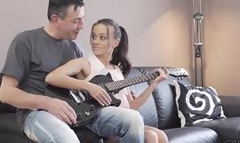 OLD4K. Attractive sexpot enjoys fantastic sex with mature guitarist