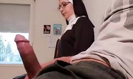 Pervert water down puts a put up the shutters seal camera in his kick into touch room, this slutty nuns  will be caught red-handed on touching an empty french ball...