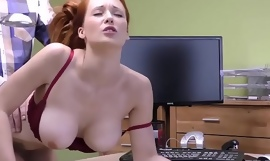 LOAN4K. Red-haired beauty has vilifying sex for initial for pet surgery
