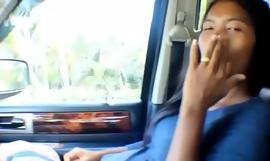 Hurricane Irma survivor 8 month pregnant Thai Teen deepthroat throatpie cum swallow in car