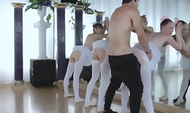 Teen labelling pussy close wide and boring party xxx Ballerinas