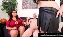 Spanish Engulfing Lessons - BBWs Angelina Castro and  Sofia Rose!