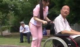 Subtitled irregular japanese half exposed caregiver absent from
