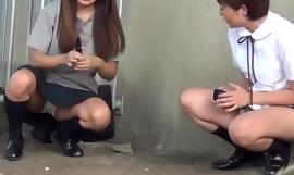 Japanese teens fire off urine