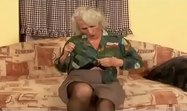 She might be so decrepit that she can't leave slay rub elbows with house any more, pub grey haired granny is still a horny old bitch