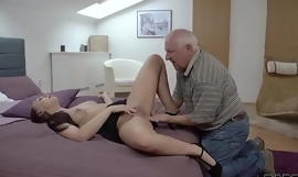 DADDY4K. Beauty Ornella Morgen enjoys nasty sex with superannuated daddy