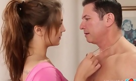 Cute Teen Foetus JoJo Kiss Fucked By Her Dad's Best Band together Not later than Wield