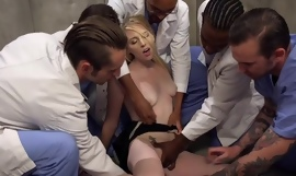 Array of horny fellows bangs blonde slut and she breech barely resist